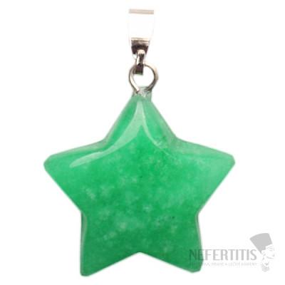 Achát zelený přívěsek hvězdička
