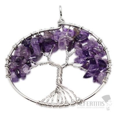 Ametyst přívěsek Strom života velký