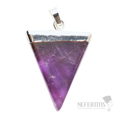 Ametyst elegantní fashion přívěsek Triangl