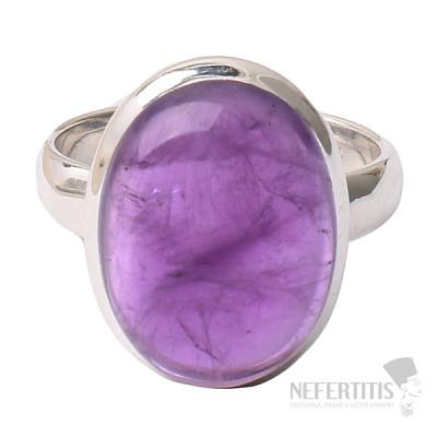 Ametyst prsten stříbro Ag 925 R1610