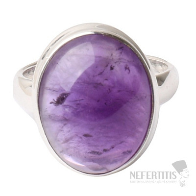 Ametyst prsten stříbro Ag 925 R1621