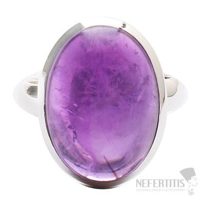 Ametyst prsten stříbro Ag 925 R1525