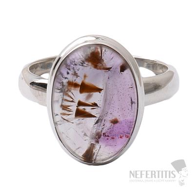 Kakoxenit Super 7 prsten stříbro  Ag 925 R1375