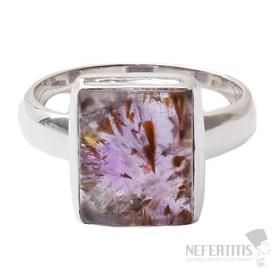 Kakoxenit Super 7 prsten stříbro  Ag 925 R1379