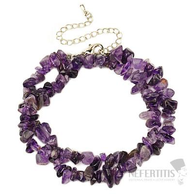 Ametyst náhrdelník sekaný 42 cm