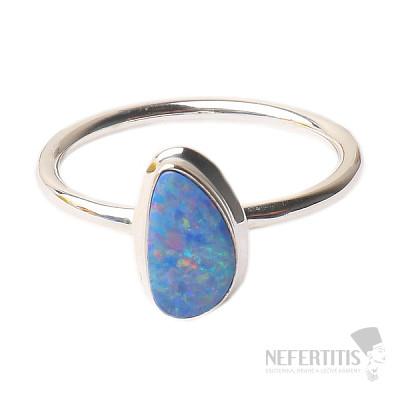 Opál australský prsten stříbro Ag 925 R1651