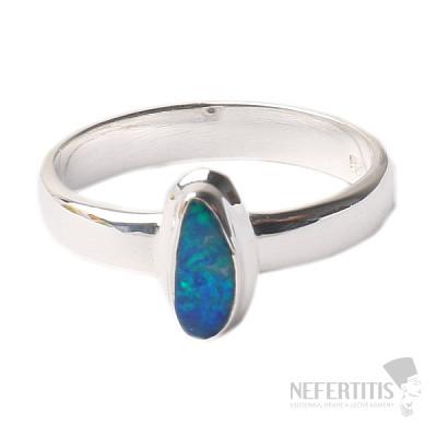Opál australský prsten stříbro Ag 925 R1723