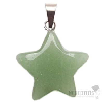 Avanturín zelený přívěsek hvězdička