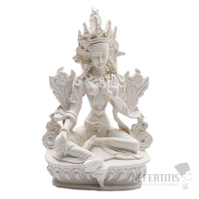 Feng Shui bílá soška bohyně Zelená Tárá