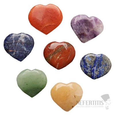 Čakrová sada kamenů srdce