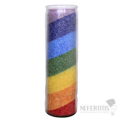 Svíčka čakrová Extra ve skle bez vůně
