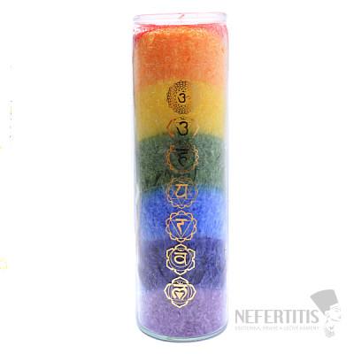 Svíčka čakrová Extra ve skle s vůní cedru a zimolezu