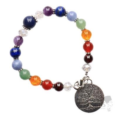 Čakrový náramek korálkový s lapisem lazuli a Stromem života