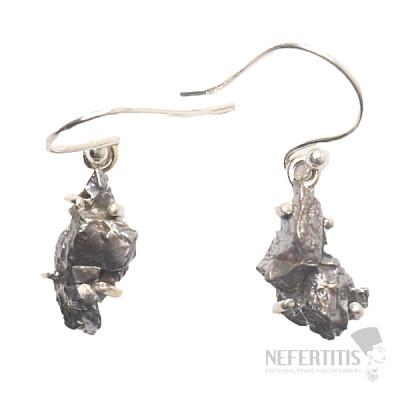Meteorit Campo del Cielo náušnice stříbro Ag 925 E378
