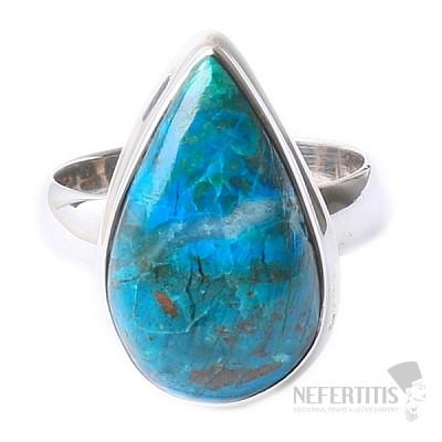 Chryzokol prsten stříbro Ag 925 R154