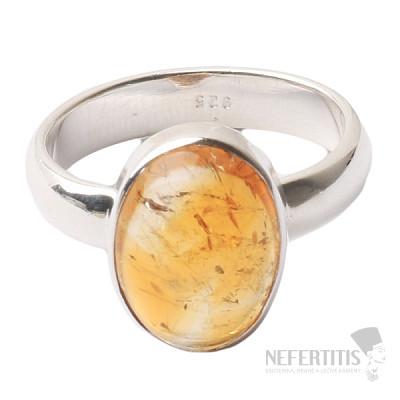 Citrín prsten stříbro Ag 925 R457