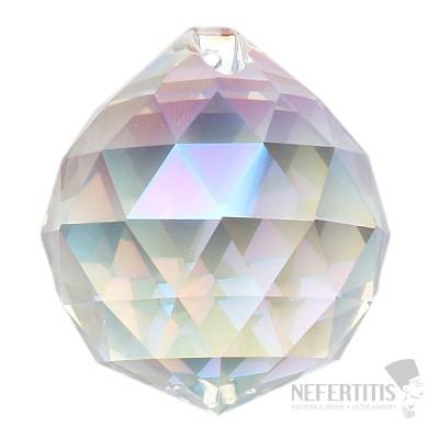 Koule Feng Shui broušený křišťál duhově metalizovaný Bright pearl XL