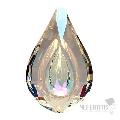 Kapka Feng Shui extra křišťál duhově metalizovaný Bright pearl