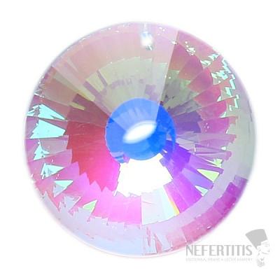 Slunce Feng Shui broušený křišťál duhově metalizovaný Dark pearl