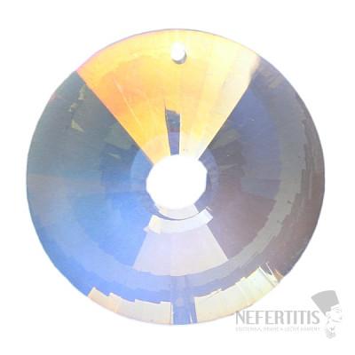 Slunce Feng Shui broušený křišťál duhově metalizovaný Bright pearl