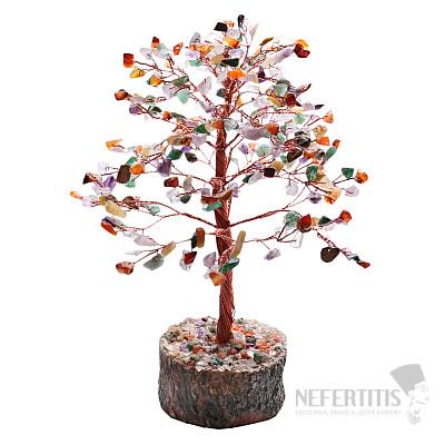 Feng Shui stromeček multicolor a červený kov 062
