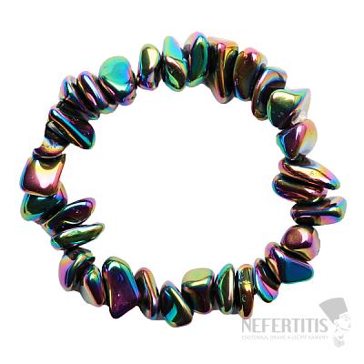 Hematit náramek sekaný titanium aura