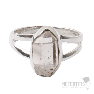 Herkimer diamant prsten stříbro Ag 925 R1500