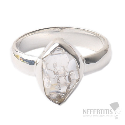 Herkimer diamant prsten stříbro Ag 925 R1689