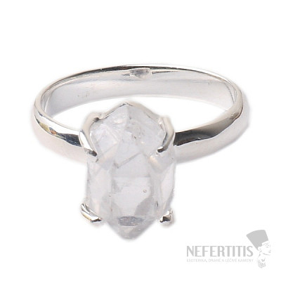 Herkimer diamant prsten stříbro Ag 925 R1634