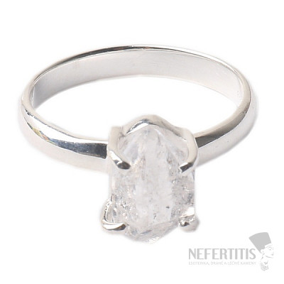 Herkimer diamant prsten stříbro Ag 925 R1662