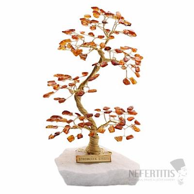 Stromeček štěstí jantar A2