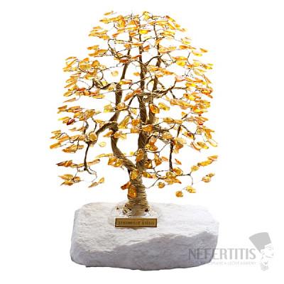Stromeček štěstí jantar A3