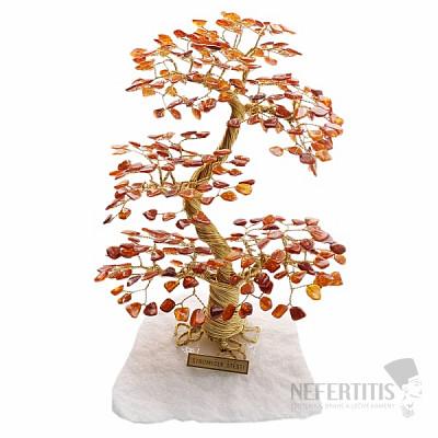 Stromeček štěstí jantar A4
