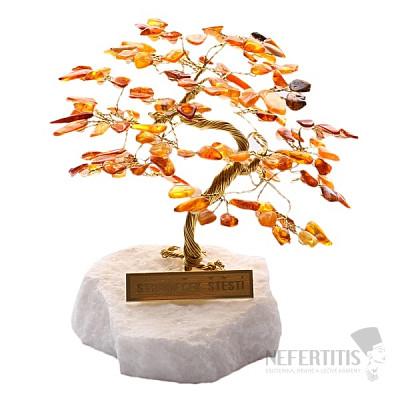 Stromeček štěstí jantar R4