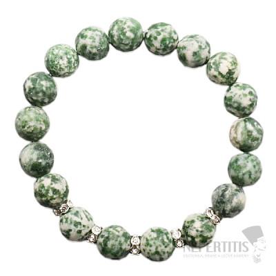 Jaspis zelený náramek korálkový RB Design 42