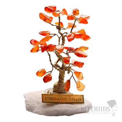 Stromeček štěstí karneol