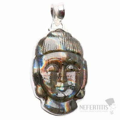 Labradorit Buddha extra přívěsek stříbro Ag 925 P150