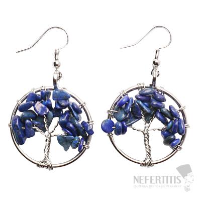 Lapis lazuli náušnice Strom života