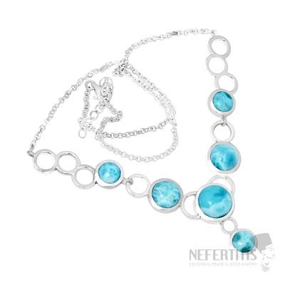 Larimar náhrdelník stříbro LD 10 Ag 925