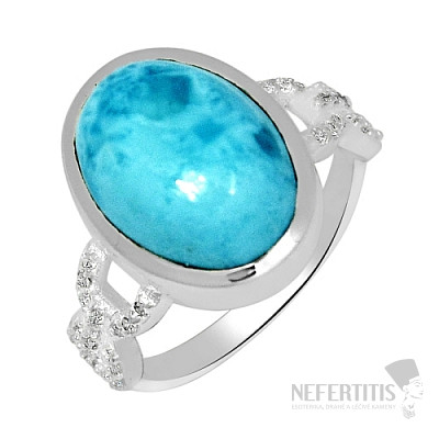 Larimar prsten stříbro LD 07 Ag 925