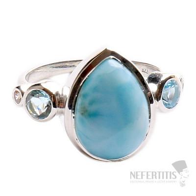 Larimar prsten stříbro LD 12 Ag 925