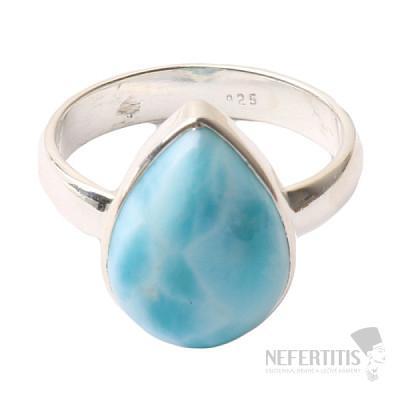 Larimar prsten stříbro Ag 925 R1039