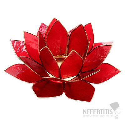 Svícen lotos pro kořenovou čakru