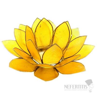 Svícen lotos pro čakru solar plexu