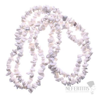Magnezit (Howlit bílý) náhrdelník sekaný
