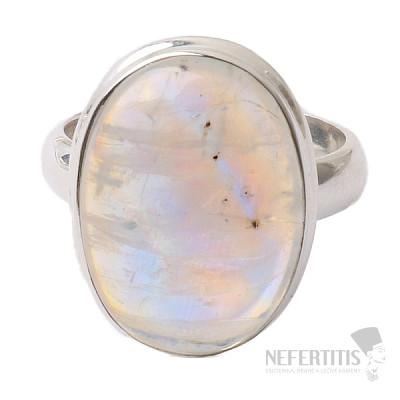 Měsíční kámen duhový prsten stříbro Ag 925 R1781