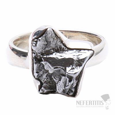 Meteorit Campo del Cielo prsten stříbro Ag 925 R818