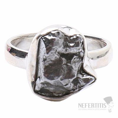 Meteorit Campo del Cielo prsten stříbro Ag 925 R825