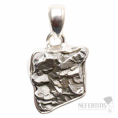 Meteorit Campo del Cielo přívěsek stříbro Ag 925 P692