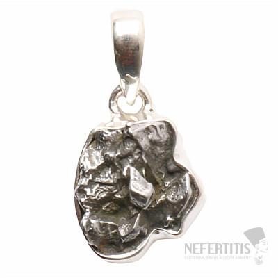 Meteorit Campo del Cielo přívěsek stříbro Ag 925 P755